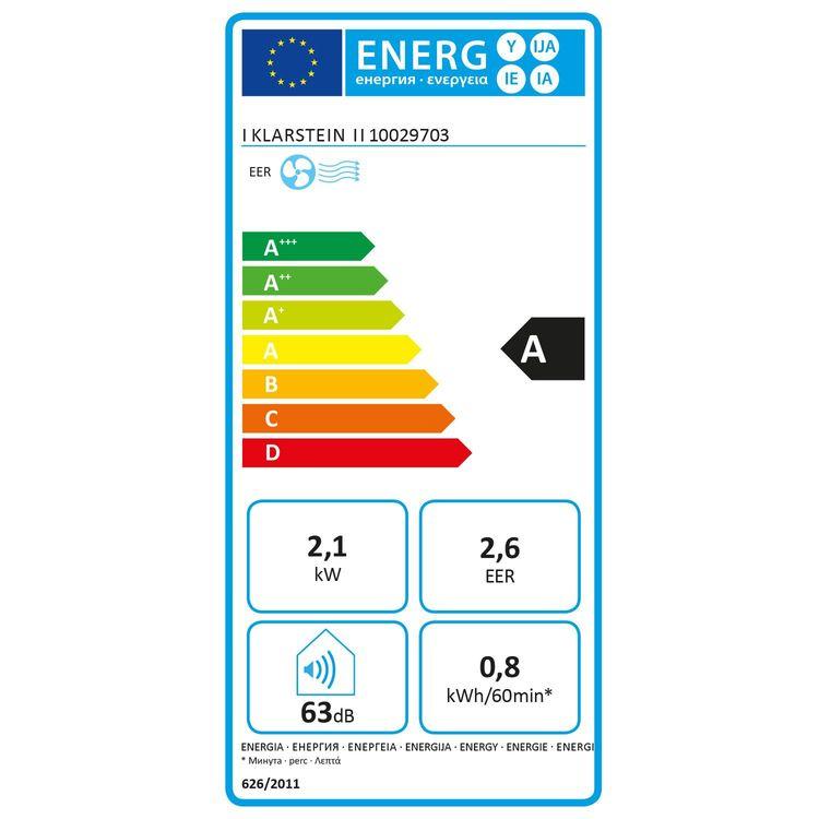 Klarstein New Breeze 7 energetický štítek