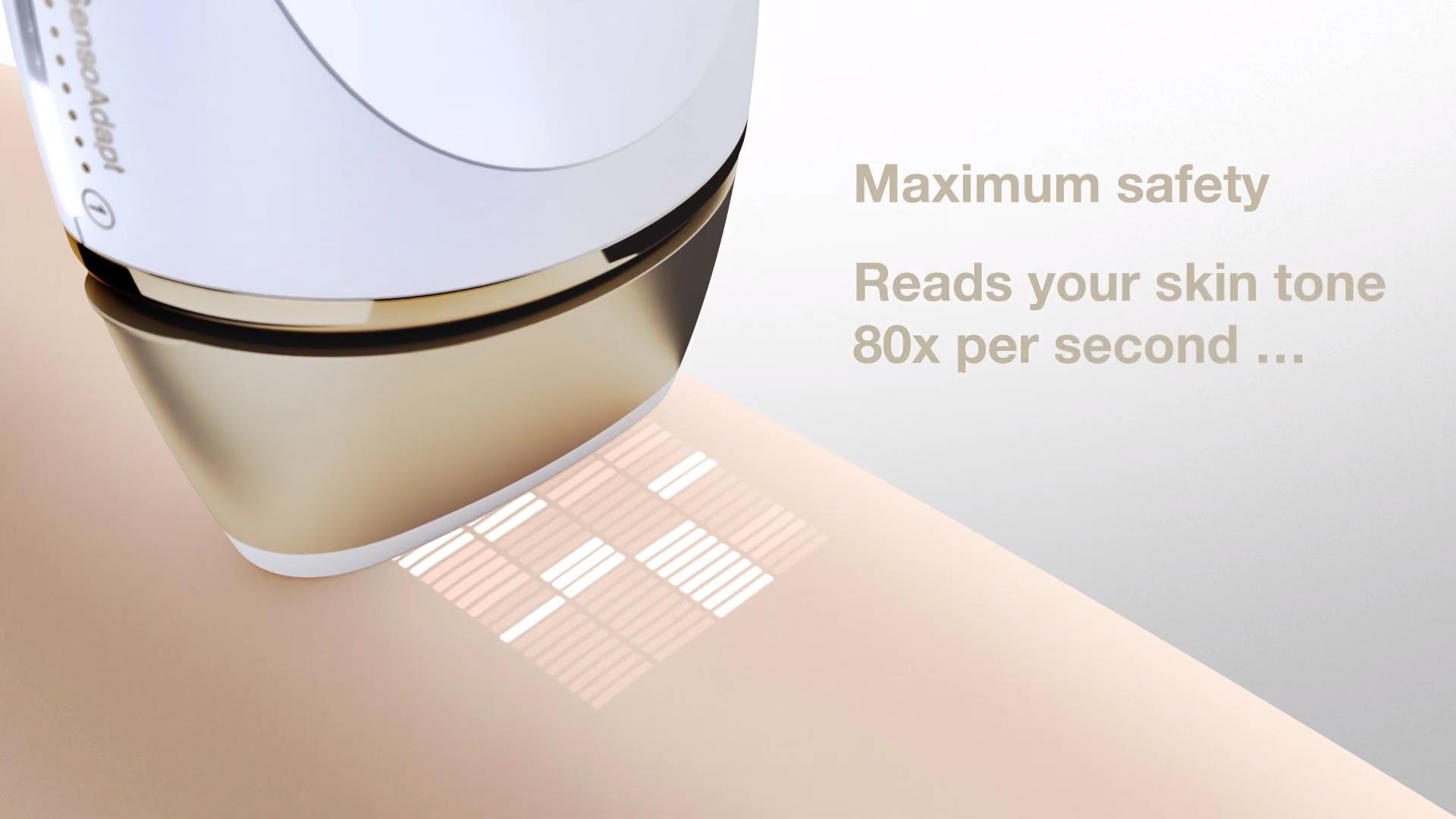 Bezpečné použití epilátoru Braun Silk-expert Pro 5 PL5014 IPL