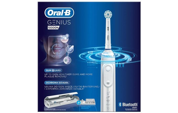 Oscilačně-rotační zubní kartáček Oral-B Genius 10000N White