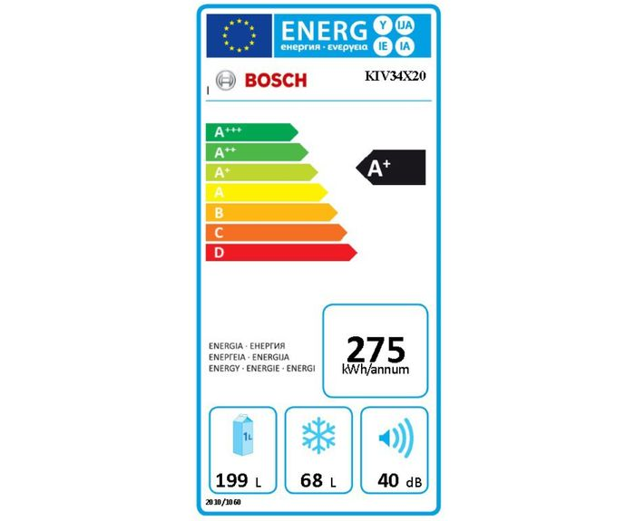 Bosch KIV 34X20 energetický štítek