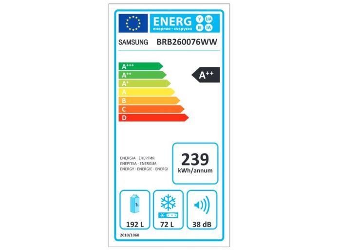 Samsung BRB260076WW energetický štítek