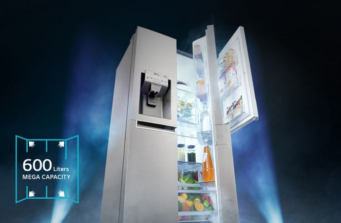 LG GSB760PZXZ – objem chladničky