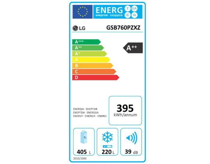 LG GSB760PZXZ energetický štítek