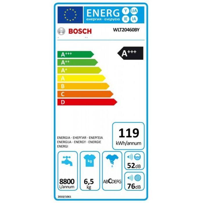 Bosch WLT20460BY energetický štítek