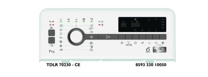 Whirlpool TDLR 70230 ovládací panel