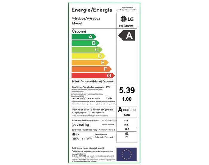 LG F84J6TG0W energetický štítek
