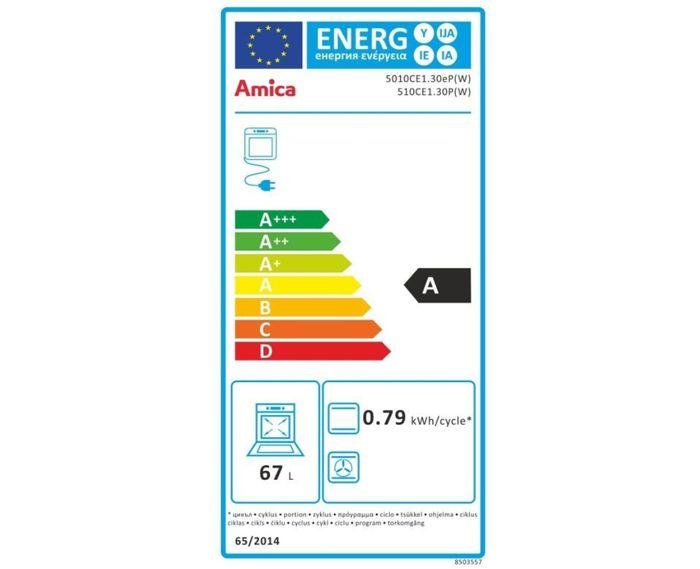 Amica 510 CE1.30P(W) energetický štítek