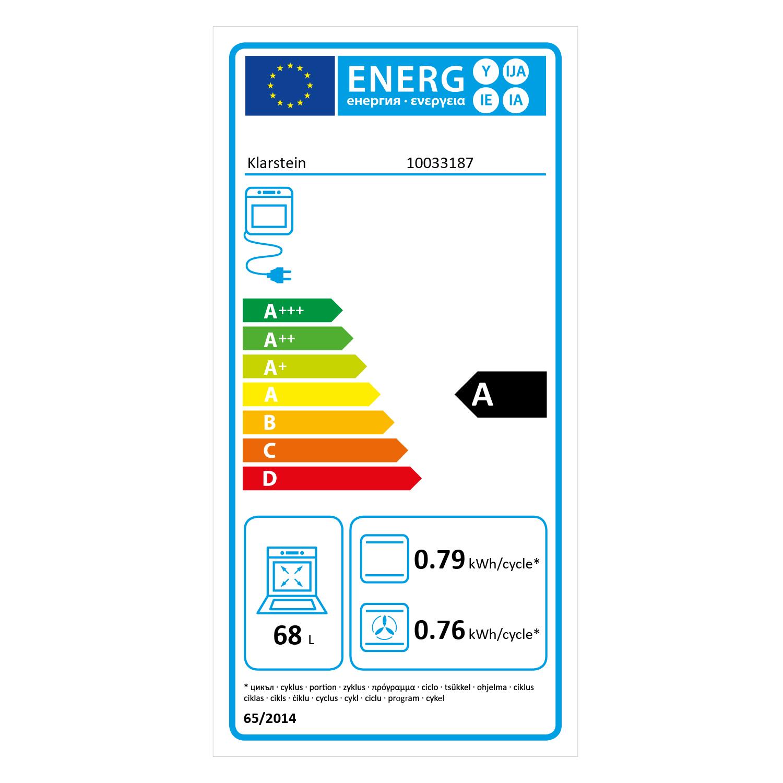 Klarstein Kalahari energetický štítek