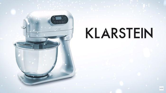 Kuchyňský robot Klarstein Curve Plus ve stříbrné barvě