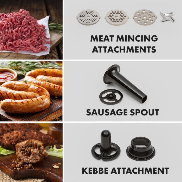 Klarstein Curve Plus nástavce na mlýnek na maso
