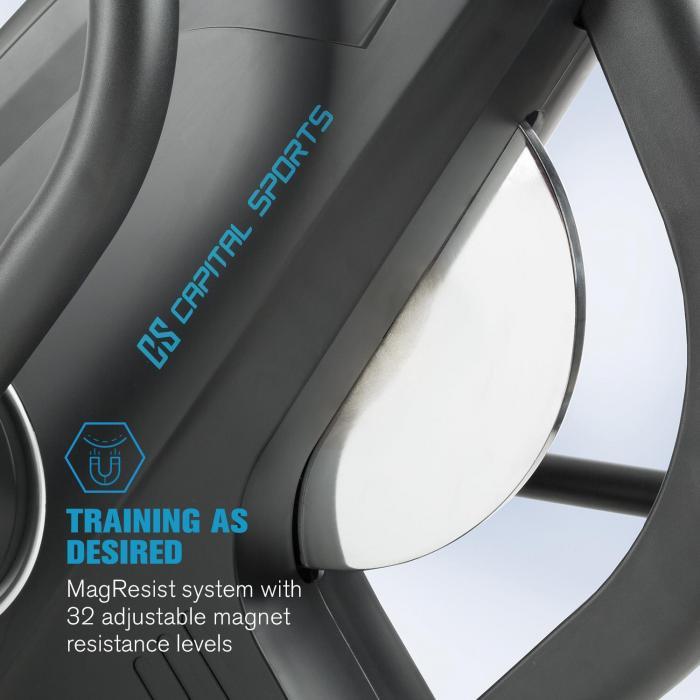 32 úrovní magnetického odporu eliptického trenažéru Helix Star MR