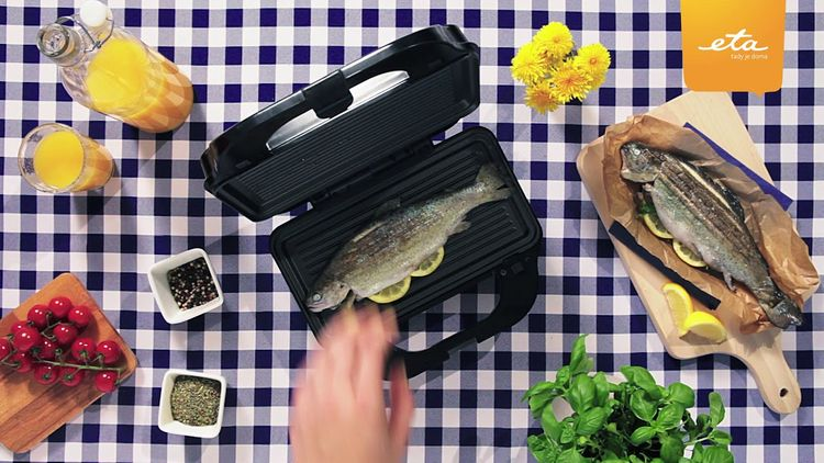 Grilování ryby v sendvičovači ETA Sorento 3151