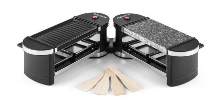 Raclette gril Klarstein Tenderloin Mini s grilovací deskou a deskou z přírodního kamene