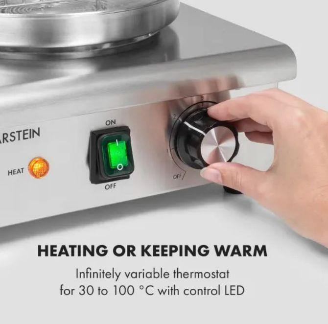 Ovládání hotdogovače Klarstein Wurstfabrik Pro 550