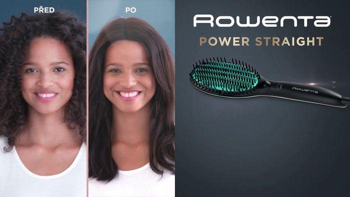 Žehlicí kartáč na vlasy Rowenta Power Straight CF5820F0