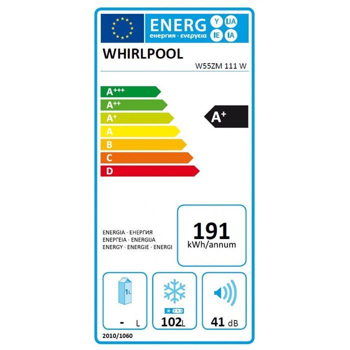 Whirlpool W55ZM 111 W energetický štítek