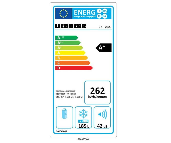 Liebherr GN 2323 energetický štítek