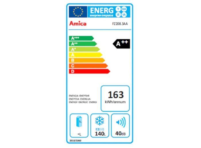 Amica FZ 208.3 AA energetický štítek