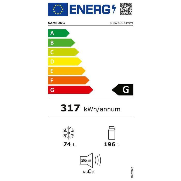 Samsung BRB260034WW energetický štítek