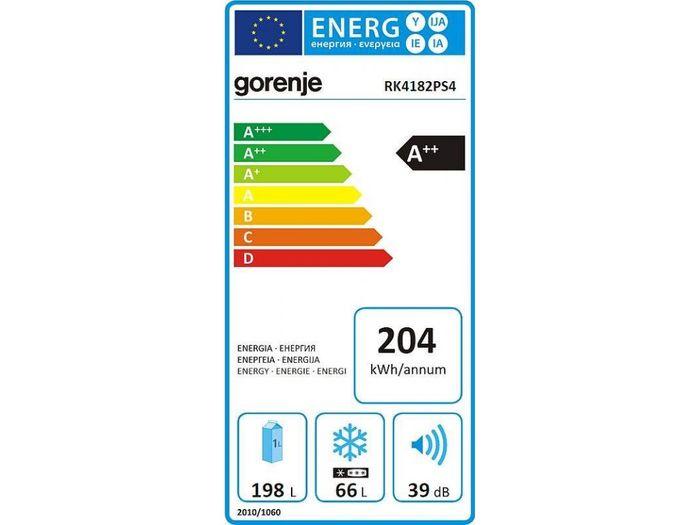 Gorenje RK4182PS4 energetický štítek