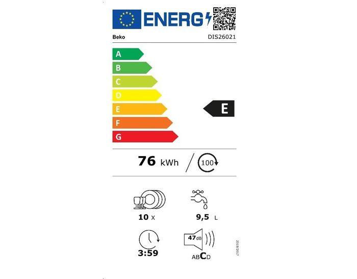 Beko DIS26021 energetický štítek
