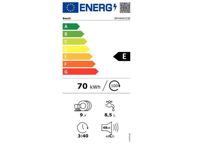 Bosch SPV4HKX33E energetický štítek
