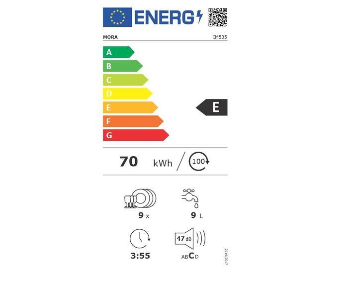 Mora IM 535 energetický štítek