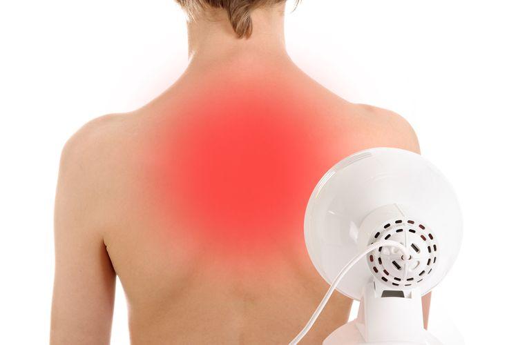 Použití infralampy k léčbě zad