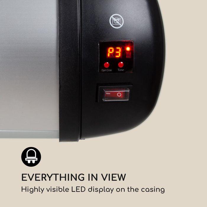 LED displej infrazářiče Blumfeldt Rising Sun Zenith