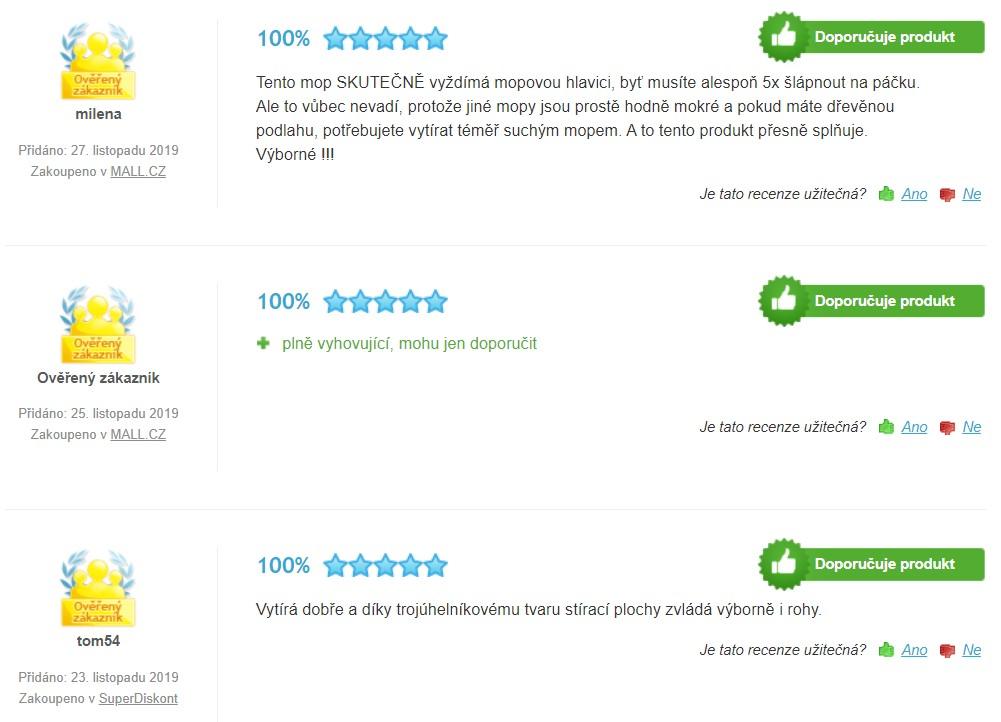 Recenze a zkušenosti s mopem Vileda Easy Wring & Clean Turbo