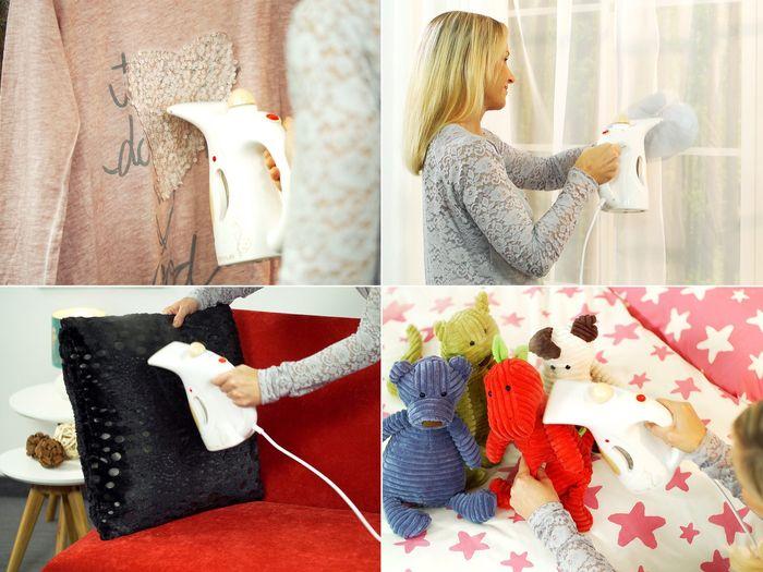 Ruční parní čistič oděvů Rovus lze použít na různé druhy textilií