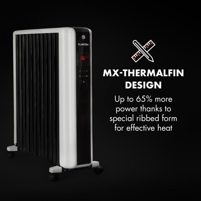 Design olejového radiátoru Klarstein Thermaxx 2500