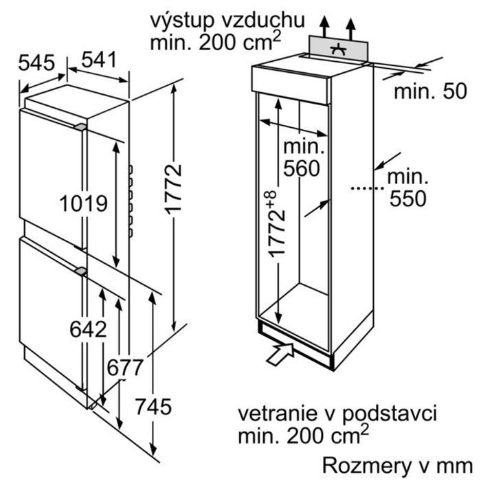 Bosch KIV 34X20 rozměry