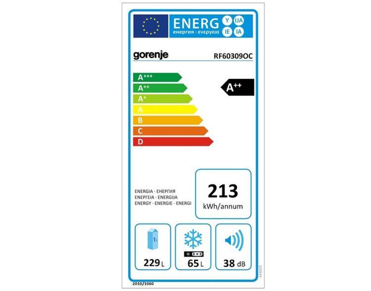 Gorenje RF 60309OC– energetický štítek