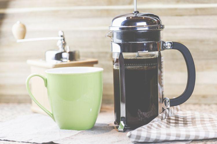 Skleněný french press kávovar s dvojitou stěnou