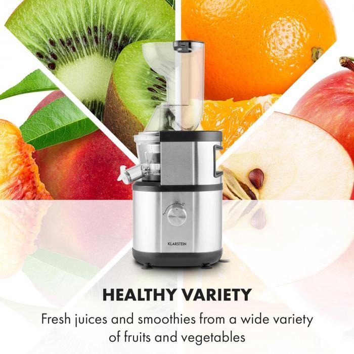 Klarstein Fruitberry se hodí na odšťavování ovoce i zeleniny