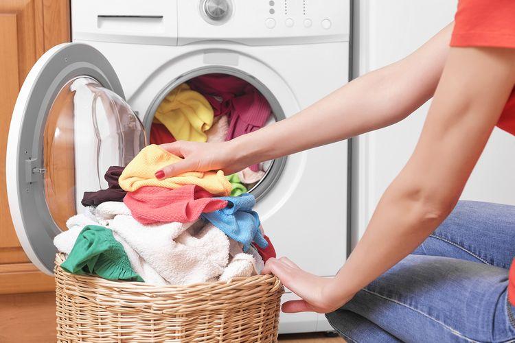 Praní v zepředu plněné pračce