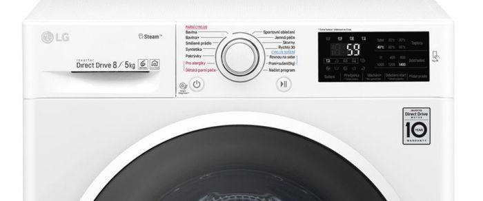 Ovládání pračky LG F84J6TG0W