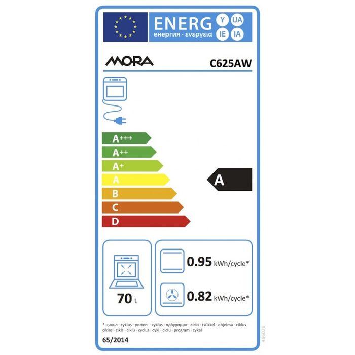 Mora C 625 AW energetický štítek
