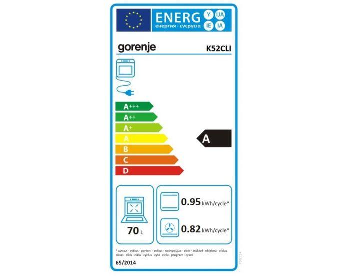 Gorenje K52CLI energetický štítek