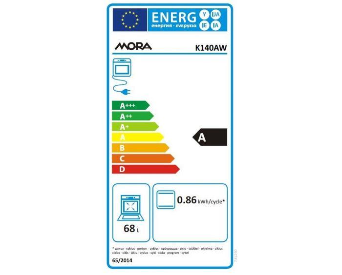 Mora K140AW energetický štítek