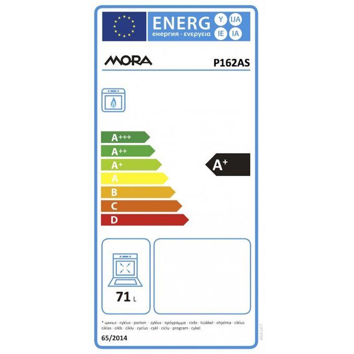 Mora P 162 AS energetický štítek