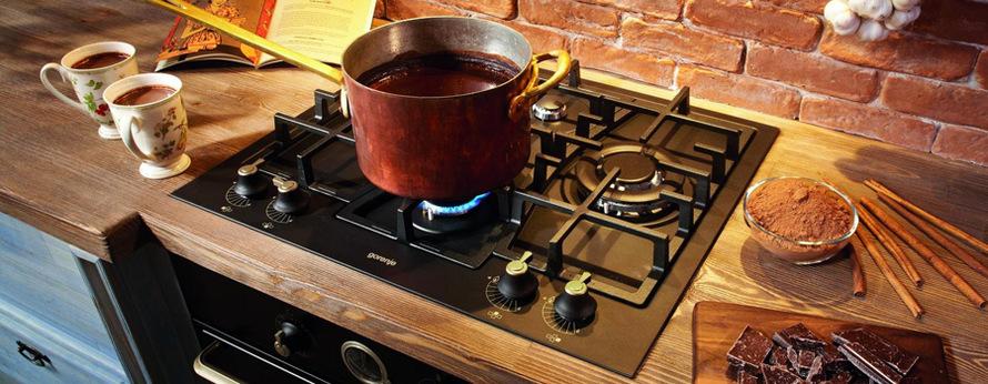 Plynová varná deska s 5 hořáky