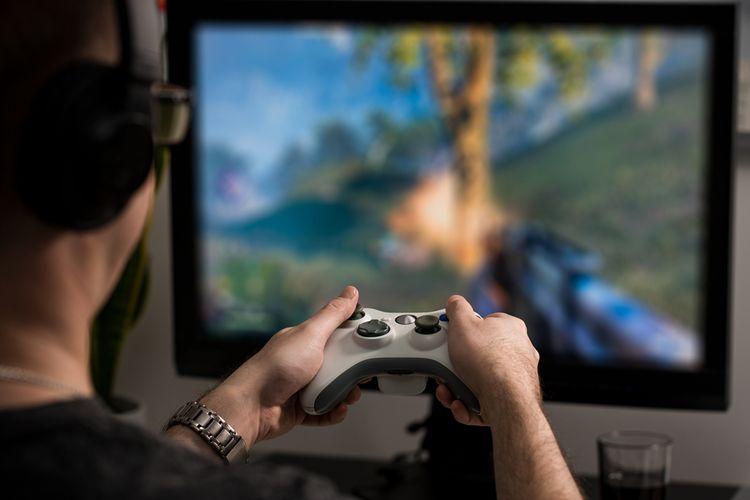 Hra na herním monitoru