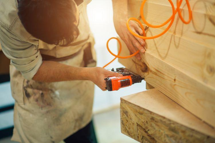 Elektrická hřebíkovačka– použití