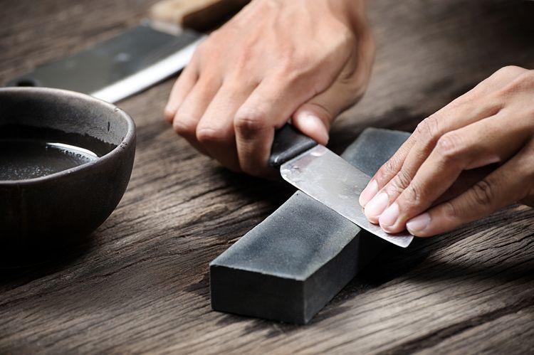 Brusný kámen na ostření nože