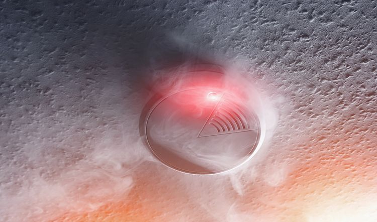 Detektor kouře na baterky