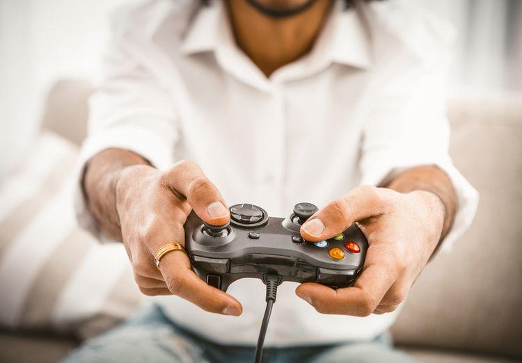 Ovládací prvky na gamepadu