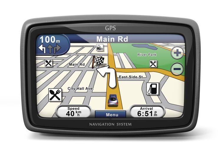 Velikost displeje GPS navigace