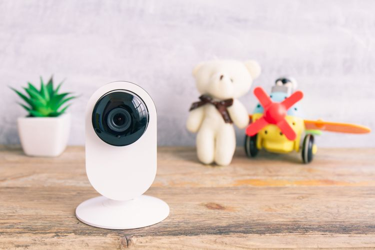 Bílá interiérová IP kamera